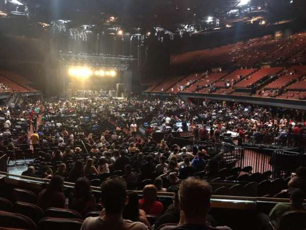 The Forum, section: 134, row: 6, seat: 9