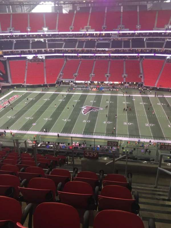 Mercedes-Benz Stadium, section: 339, row: 12, seat: 1