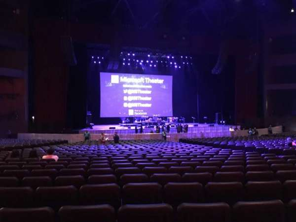 Microsoft Theater, section: Orchestra Center Left, row: GG, seat: 412