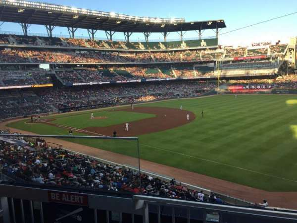 SunTrust Park, section: Terrace Reserved 213, row: 2, seat: 17-21