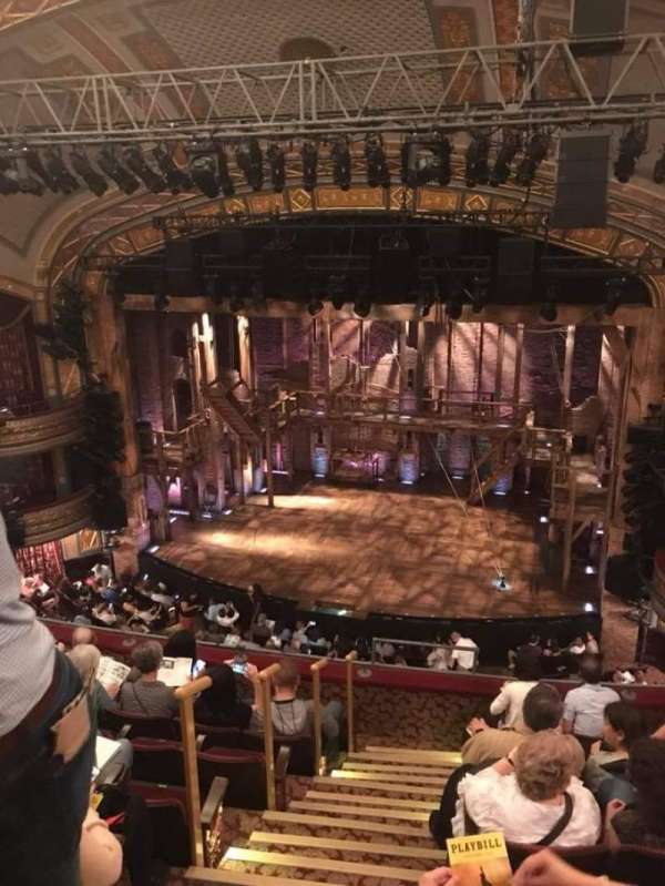 Richard Rodgers Theatre, section: Rear Mezzanine C, row: D, seat: 10