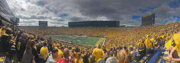 Michigan Stadium, section: 40, row: 70, seat: 2