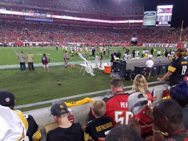 Raymond James Stadium, section: 134, row: C, seat: 2