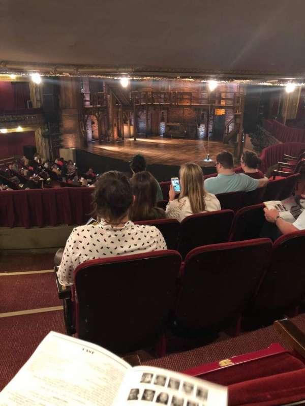 CIBC Theatre, section: Dress circle r, row: E, seat: 4