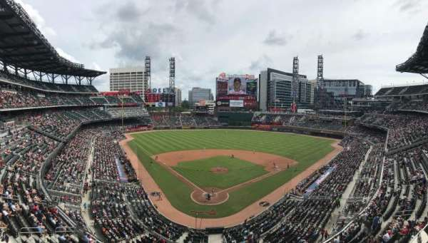 Truist Park, section: 325, row: 1, seat: 21