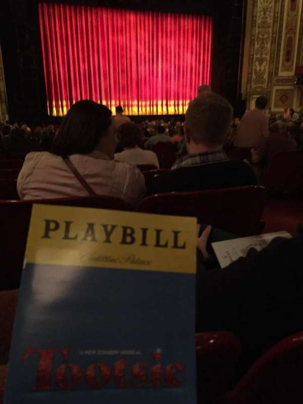 Cadillac Palace Theater, section: Orchestra left, row: X, seat: 2