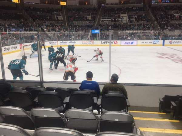 SAP Center, section: 116, row: 7, seat: 18