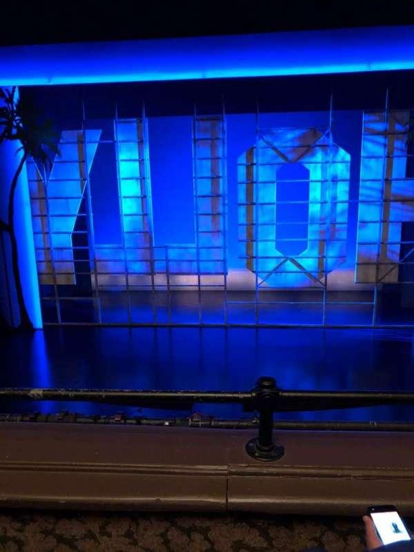 Nederlander Theatre, section: Mezzanine, row: B, seat: 106