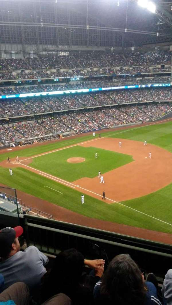 Miller Park, section: 410, row: 3, seat: 5