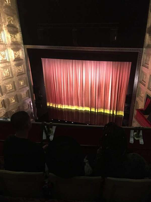 Savoy Theatre, section: Upper circle, row: C, seat: 4