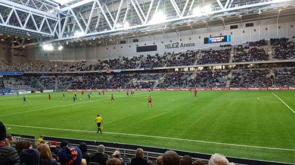 Tele2 Arena, section: A129, row: 12, seat: 366