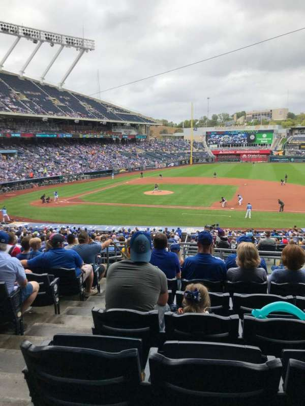 Kauffman Stadium, section: 236, row: KK, seat: 2