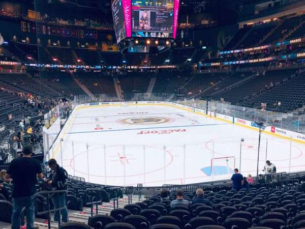 T-Mobile Arena, section: 10, row: Q, seat: 4