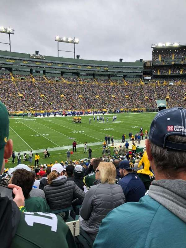 Lambeau Field, section: 114, row:  29, seat: 17