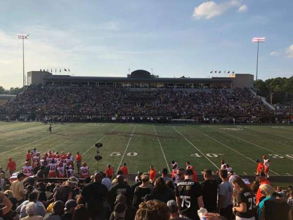 Waldo Stadium, section: D, row: 5, seat: 20