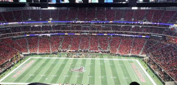 Mercedes-Benz Stadium, section: 310, row: 34, seat: 27