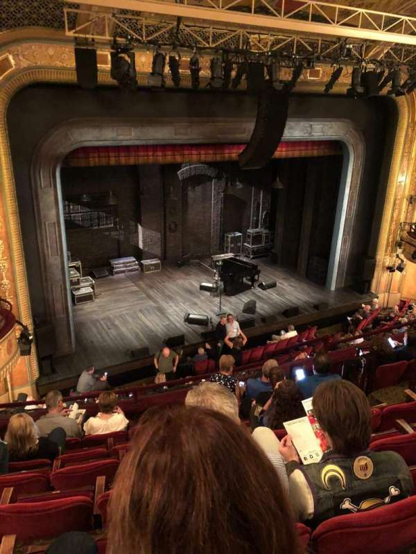 Walter Kerr Theatre, section: Mezzanine left, row: G, seat: 15