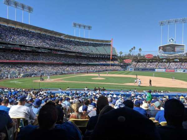 Dodger Stadium, section: 20FD, row: V, seat: 2