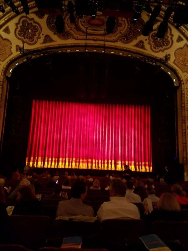 Cadillac Palace Theater, section: Orchestra C, row: Q, seat: 108