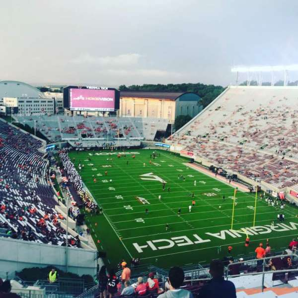 Lane Stadium, section: 508, row: S, seat: 11