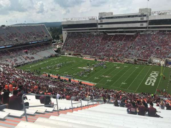 Lane Stadium, section: 23, row: 5J, seat: 10