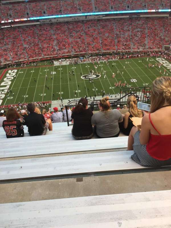 Sanford Stadium, section: 607