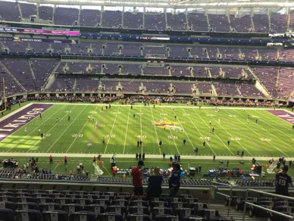 U.S. Bank Stadium, section: 204, row: 10, seat: 1