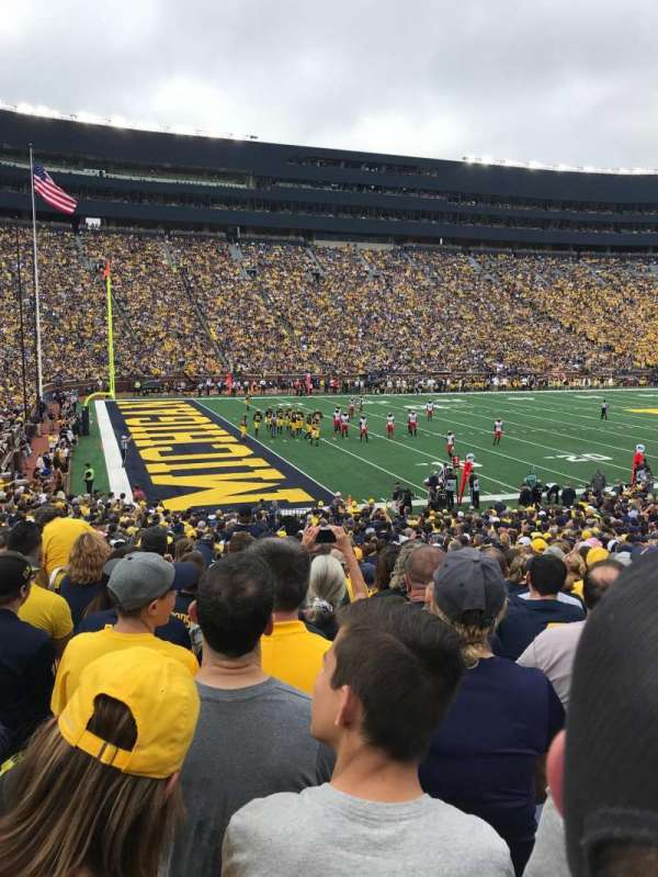 Michigan Stadium, section: 6, row: 32, seat: 12