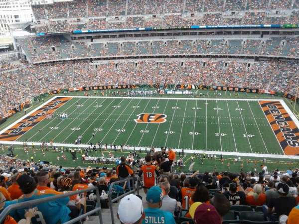 Paul Brown Stadium, section: 308, row: 26, seat: 24