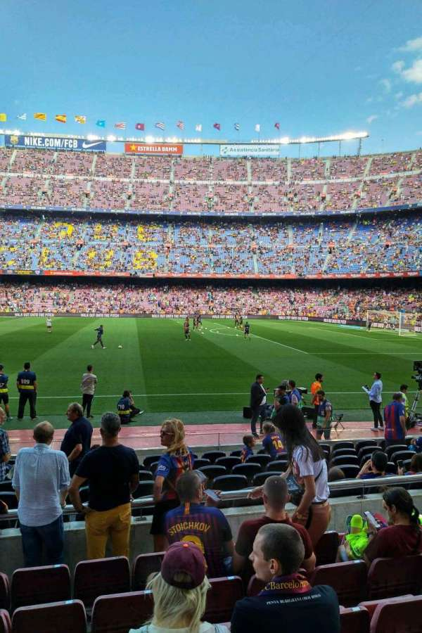 Camp Nou, section: 108, row: 05, seat: 10