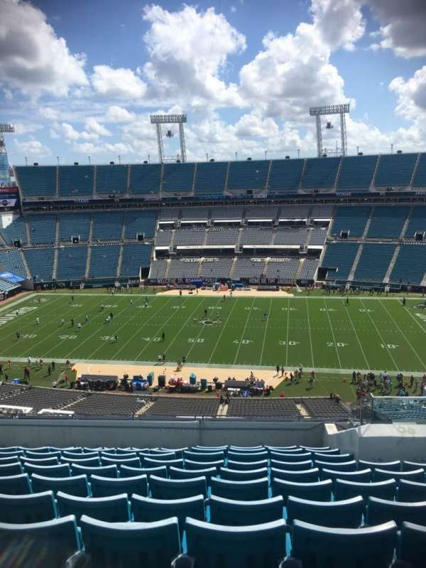 TIAA Bank Field, section: 409, row: L, seat: 15