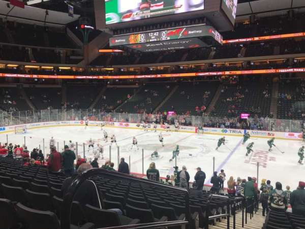 Xcel Energy Center, section: 102, row: 19, seat: 18