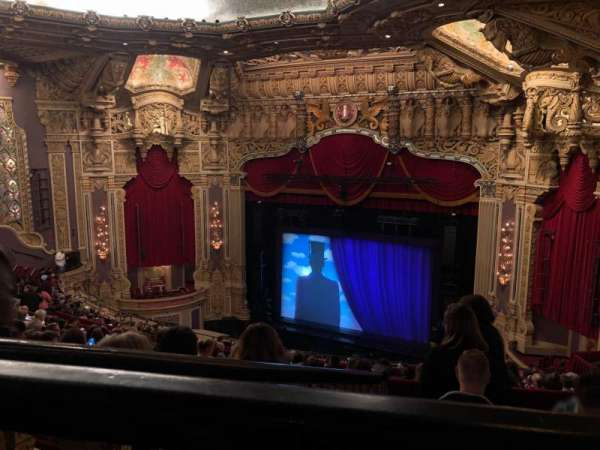 Oriental Theatre, section: Back-R, row: P, seat: 358