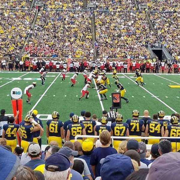Michigan Stadium, section: 24, row: 12, seat: 10