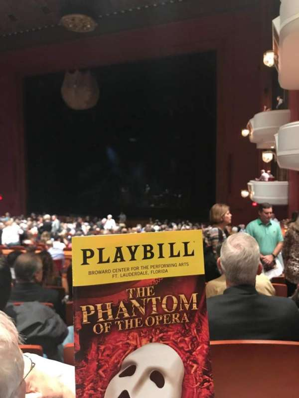 Au-Rene Theatre at the Broward Center, section: Orchestra Right, row: FF, seat: 18