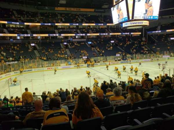 Bridgestone Arena, section: 104, row: F, seat: 18
