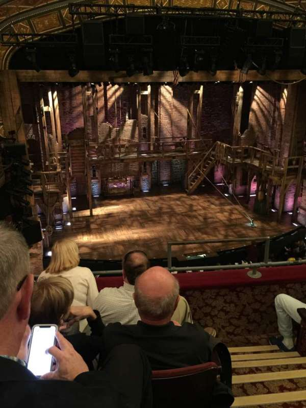 Richard Rodgers Theatre, section: MEZZANINE L, row: D, seat: 3