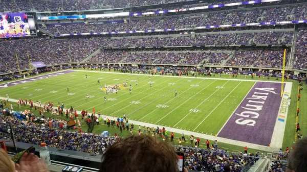 U.S. Bank Stadium, section: 206, row: 2, seat: 3