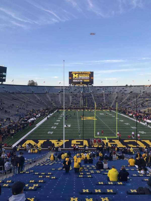 Michigan Stadium, section: 13, row: 58, seat: 20
