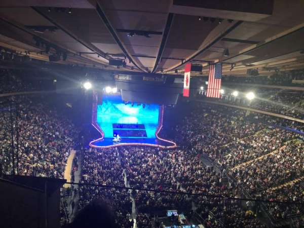 Madison Square Garden, section: 304, row: 2, seat: 2