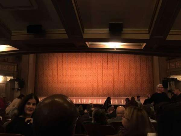 Booth Theatre, section: Orch, row: O, seat: 115