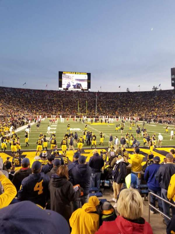 Michigan Stadium, section: 35, row: 10, seat: 7 and 8