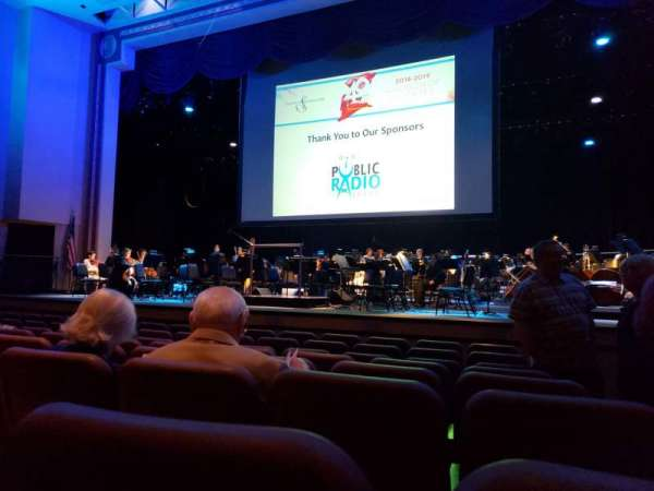 VanTrease Performing Arts Center for Education, section: Orchestra Center, row: H, seat: 101