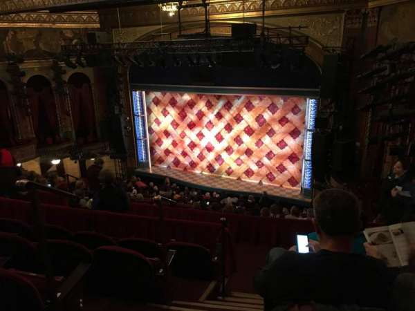 Brooks Atkinson Theatre, section: Front Mezzanine R, row: J, seat: 4