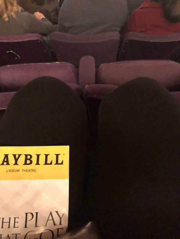 Lyceum Theatre (Broadway), section: Mezzanine R, row: G, seat: 9