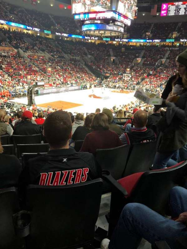 Moda Center, section: 116, row: N, seat: 4