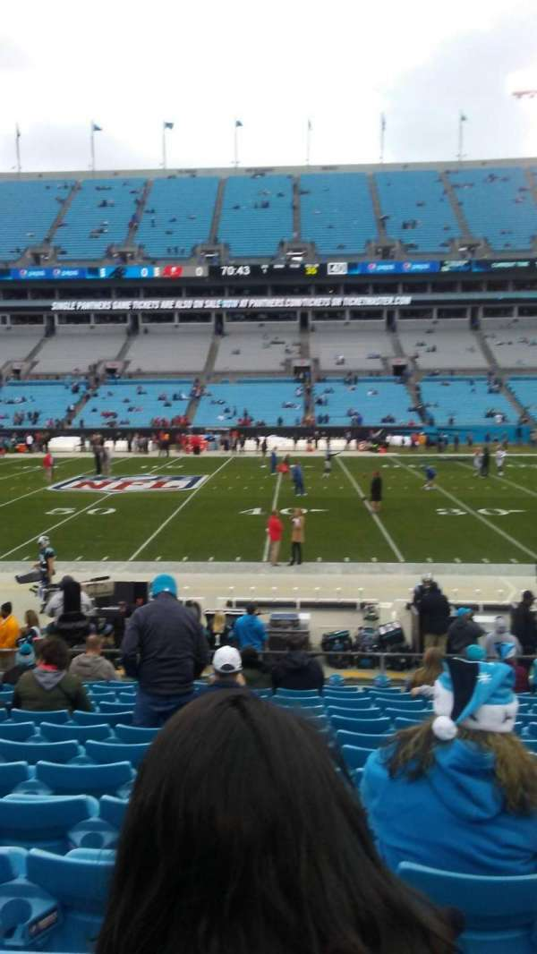 Bank of America Stadium, section: 131, row: 12
