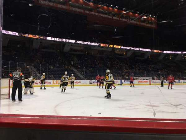 FirstOntario Centre, section: 112, row: 1, seat: 3