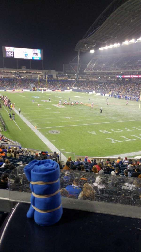 Investors Group Field, section: L143, row: Table, seat: 2