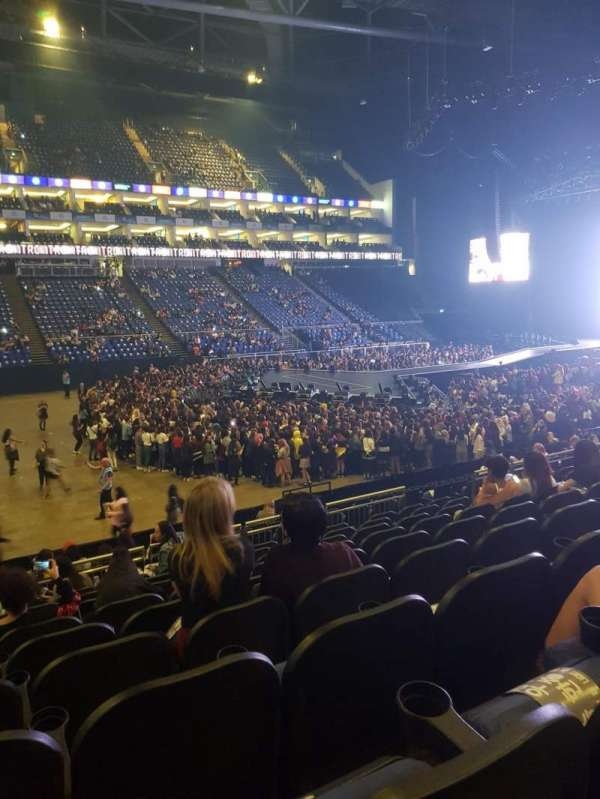 The O2 Arena, section: 110, row: S, seat: 308